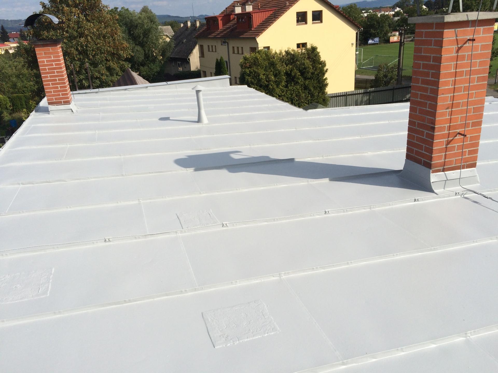 čištění střechy a nátěr střechy