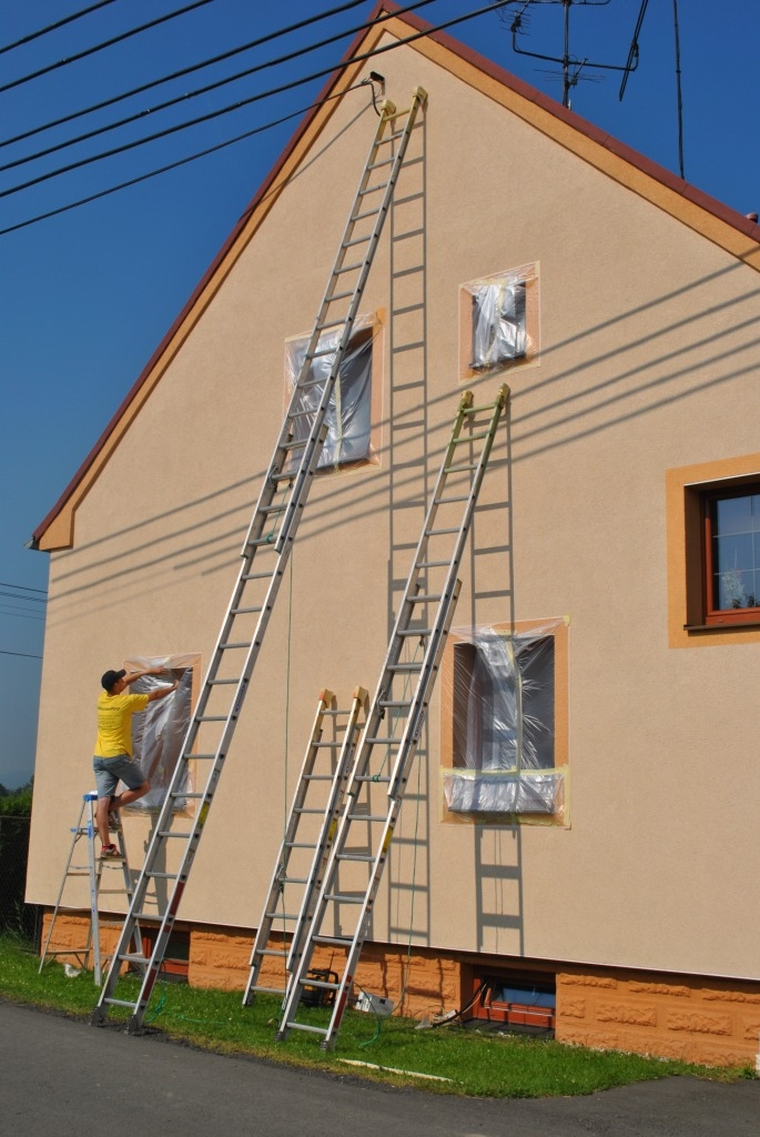 mytí fasády a nátěr fasády